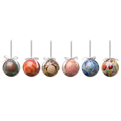 christmas baubles aboriginal designs australia