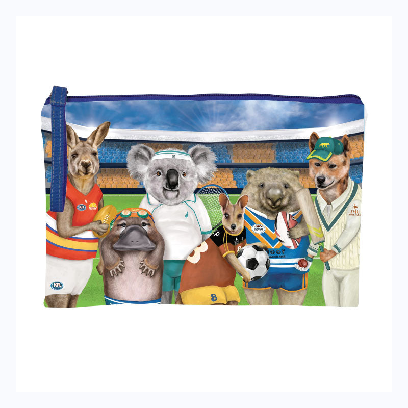 clutch purse australian animals playing sport aussie aussie aussie