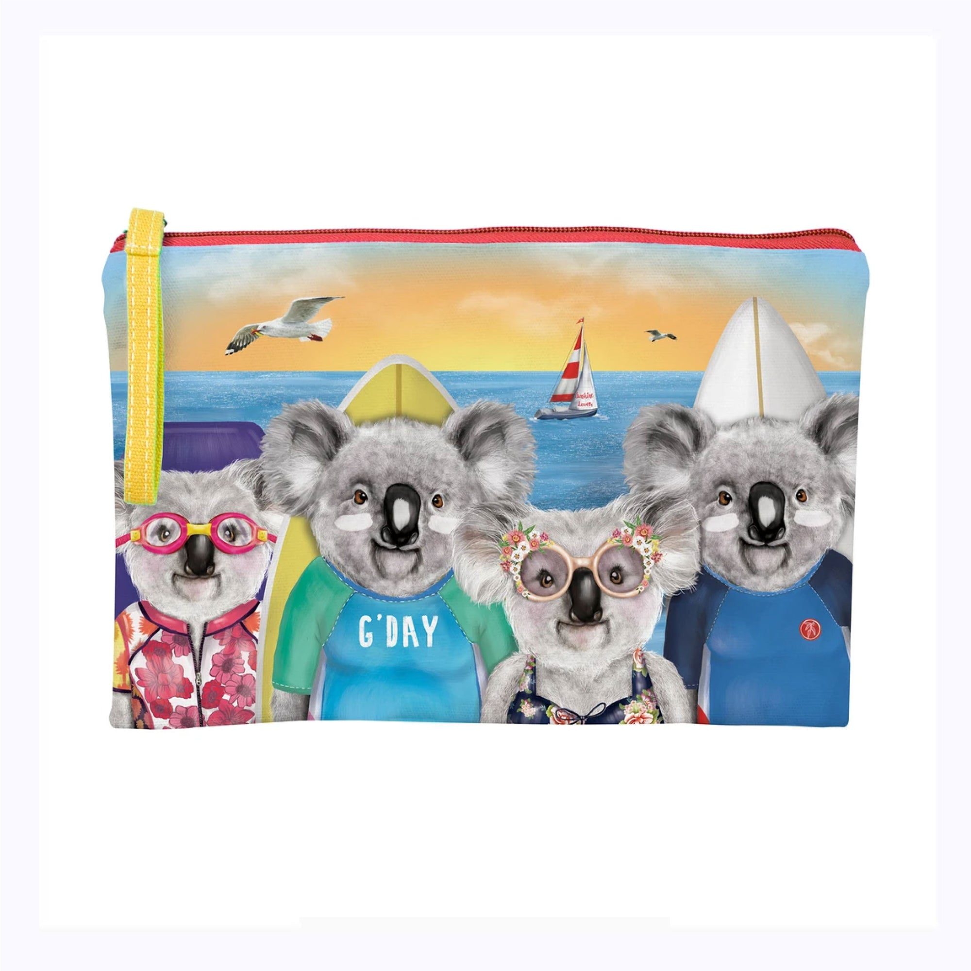 Beach Koalas Clutch Purse