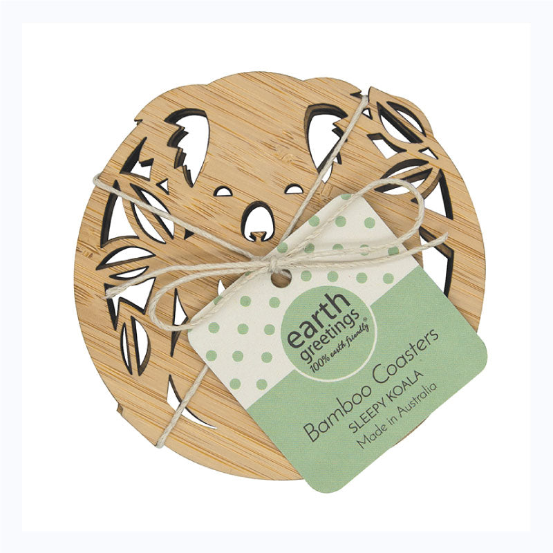 coaster set bamboo koala