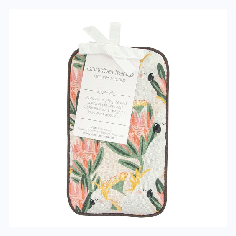 cockatoo peach drawer sachet