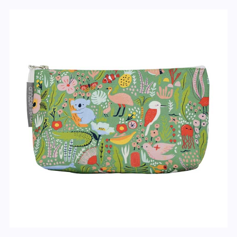 cosmetic bag large down under green