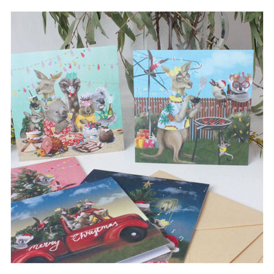 australian themed christmas cards