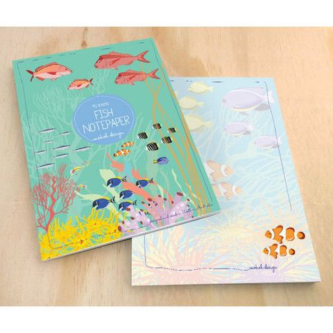 fish notepad mokoh design