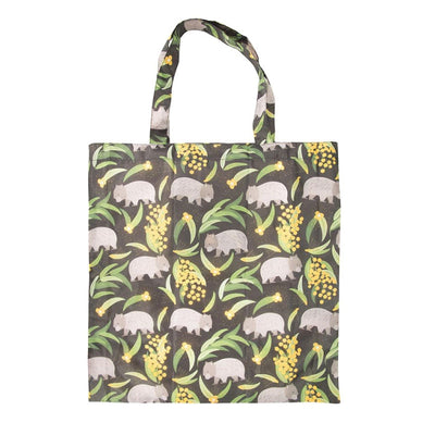 foldable shopper bag wombat wattle