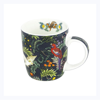 gift mug tree of life rosella cockatoo kookaburra
