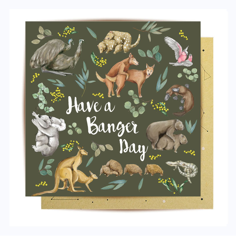 greeting card wild fur you la la land banger day