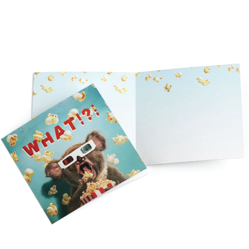 greeting card popcorn koala