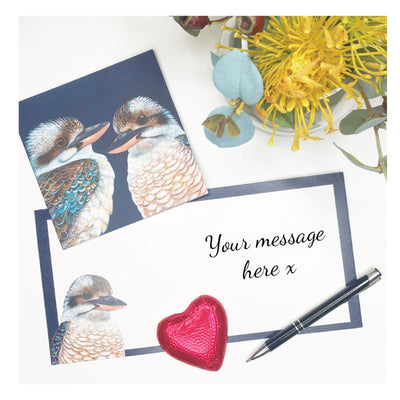 greeting card kookaburra blank