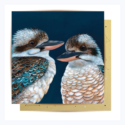 greeting card kookaburras