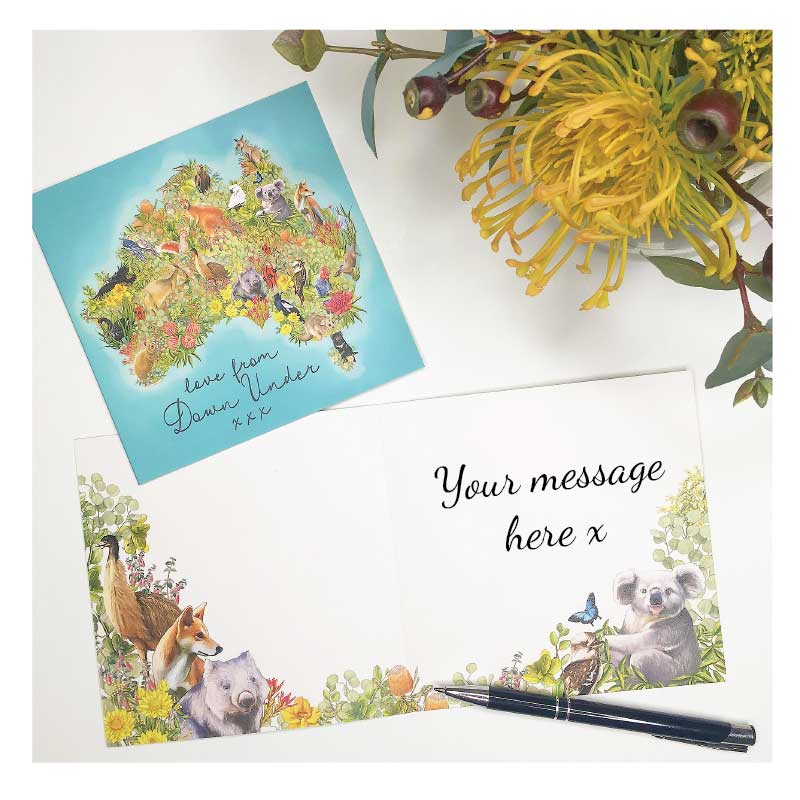 Greeting card 'Love from Down Under