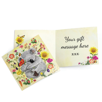 greeting card secret garden koala