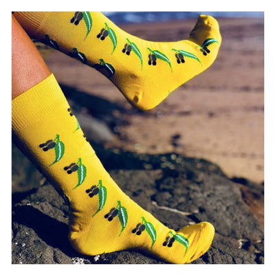 gumnut-socks-yellow