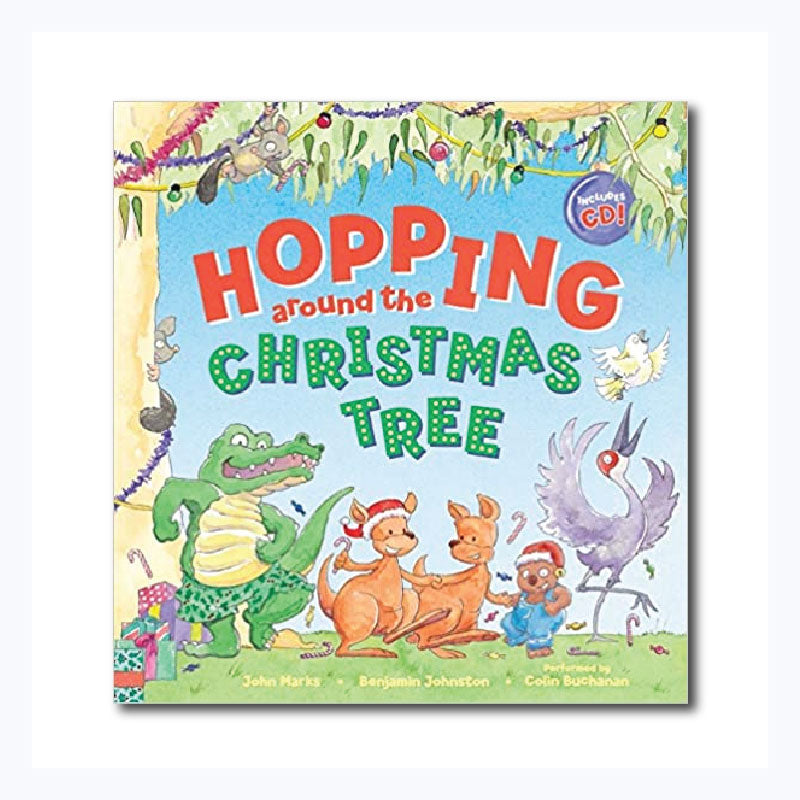 hopping around the christmas tree cd and book australia