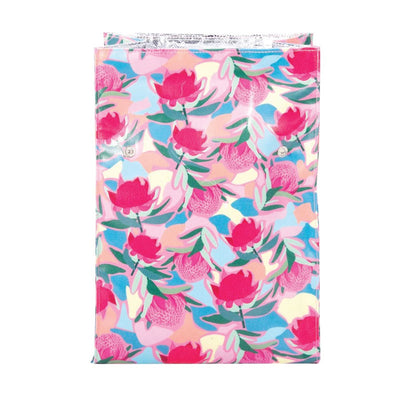 insulated-lunch-bag-pink-waratah-inside