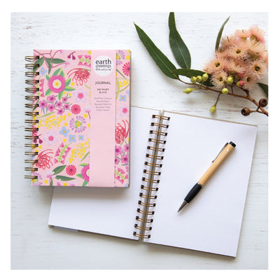 journal australian flowers pink