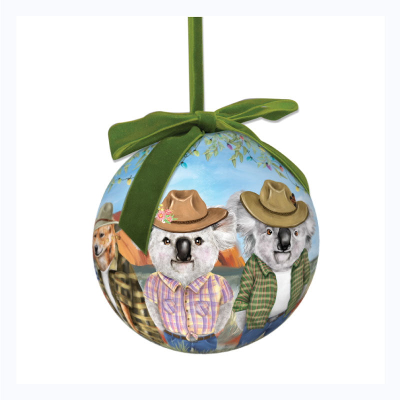koala christmas ornament sunny outback