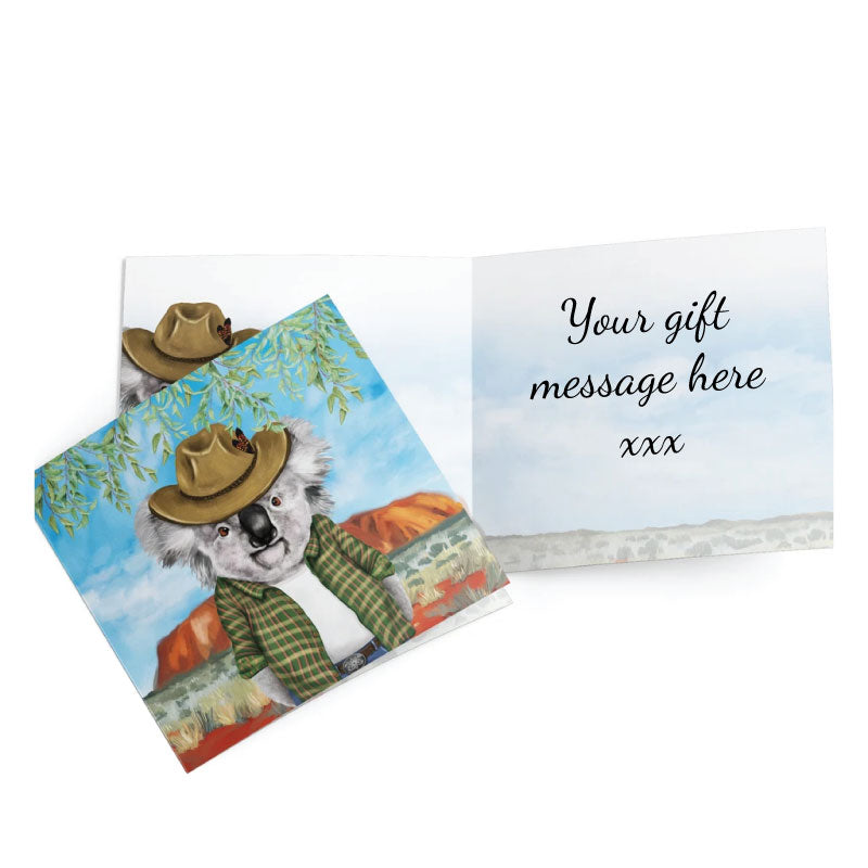 Greeting Card Cowboy Koala