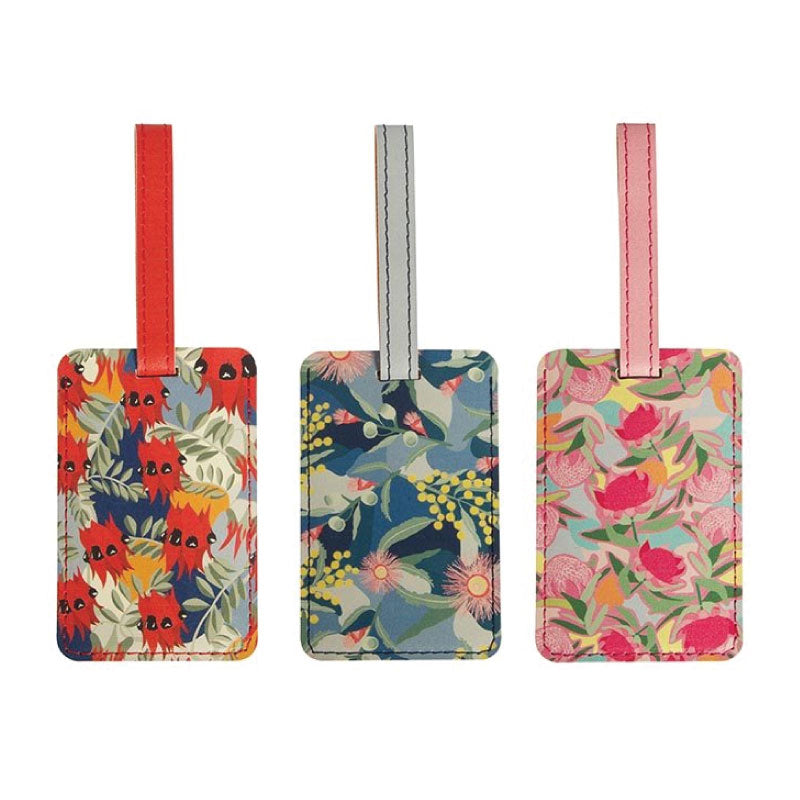 australian flower luggage tag