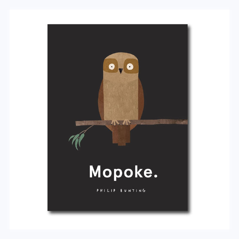 mopoke childrens book on boobok owl by philip bunting