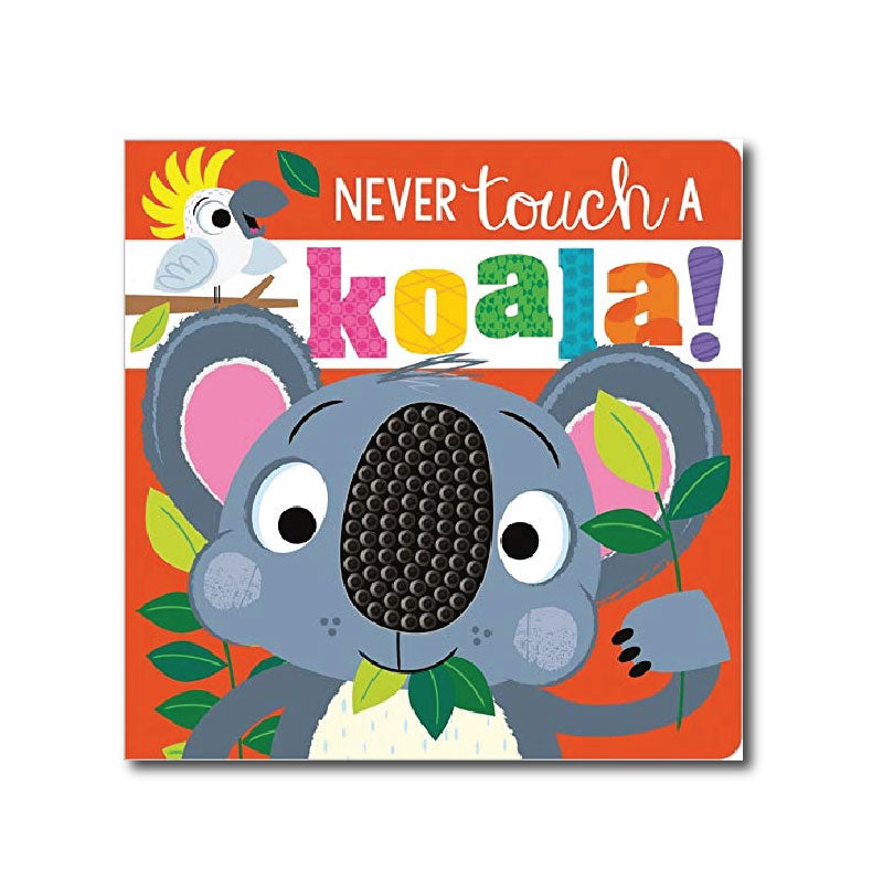 never touch a koala gift set with fuzzy jigsaw pieces