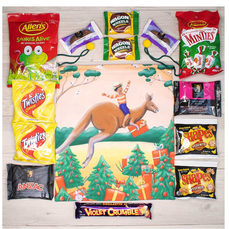 santa sack kangaroo and aussie treats