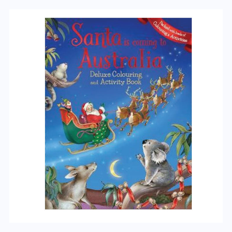 Santa in Australia Deluxe Colouring & Activity Book