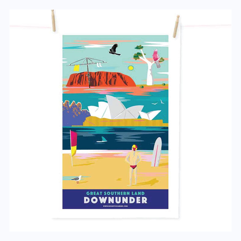 Tea Towel - Great Southern Land Down Under
