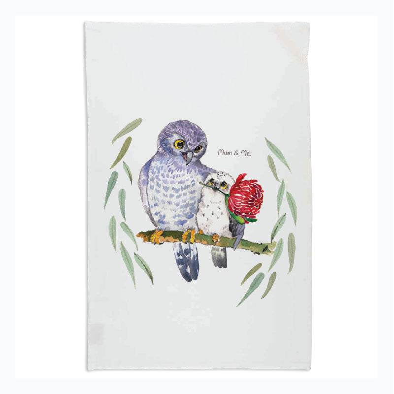 tea towel mothers day gift owl