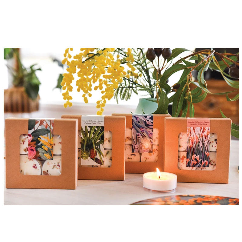 tealight candles protea wattle