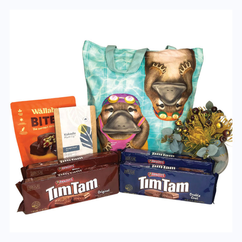 tim tam bush bag platypus swimming
