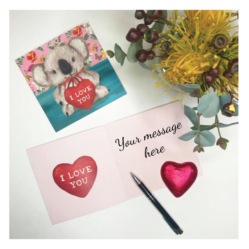 greeting card koala bear valentine