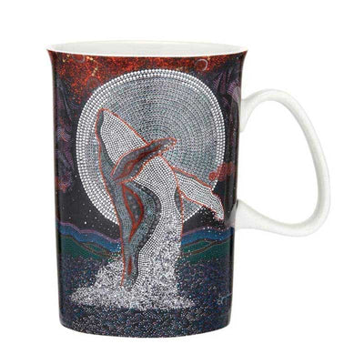 whale mug dancing in the moonlight by garry purchase