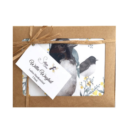 Willy Wagtail Handkerchief Set