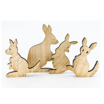 wooden  kangaroo ornaments