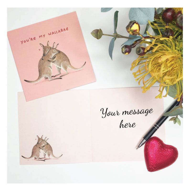 Australian Greeting Card - Wallabae