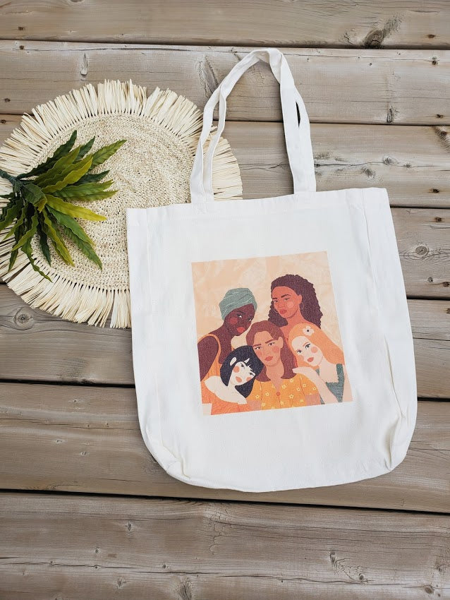 Strength in Sisterhood. Embracing Diversity Tote Bag