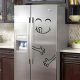 4 Styles Smile Face Fridge Stickers