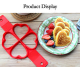Reusable Silicone Non Stick Ring Mold For Egg & Pancakes