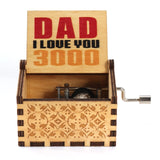 Hand Crank Wooden Music Box Mail for Dad