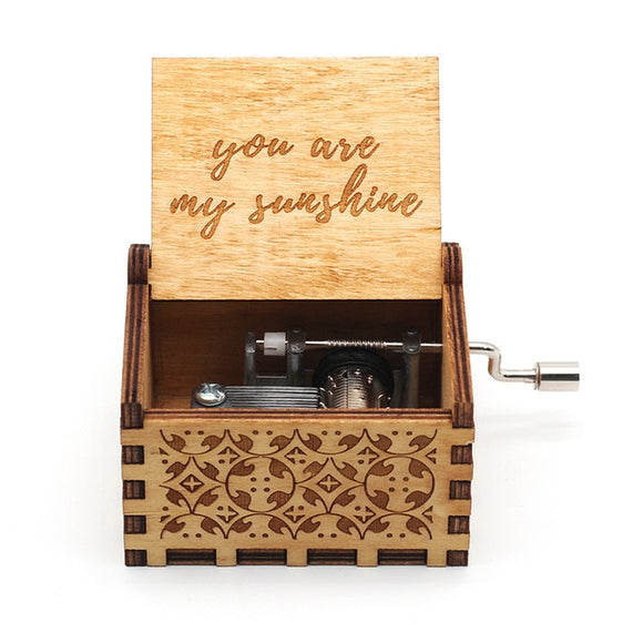 Hand Crank Wooden Music Box for your beloved