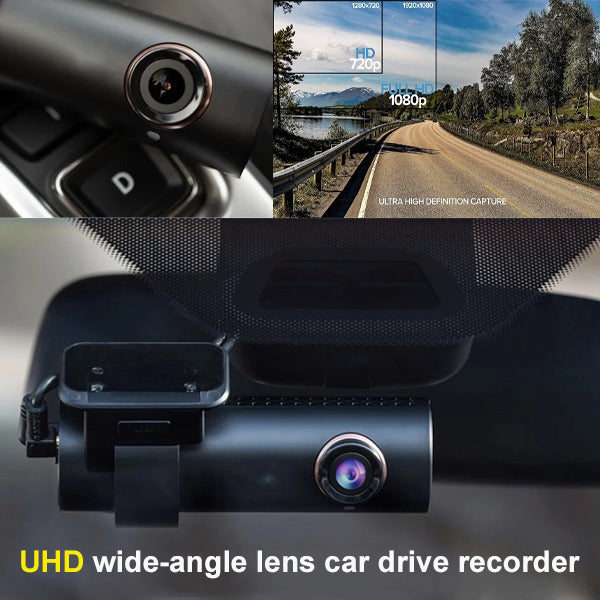 2020 latest wide-angle lens car drive recorder, built-in WIFI dashboard and GPS