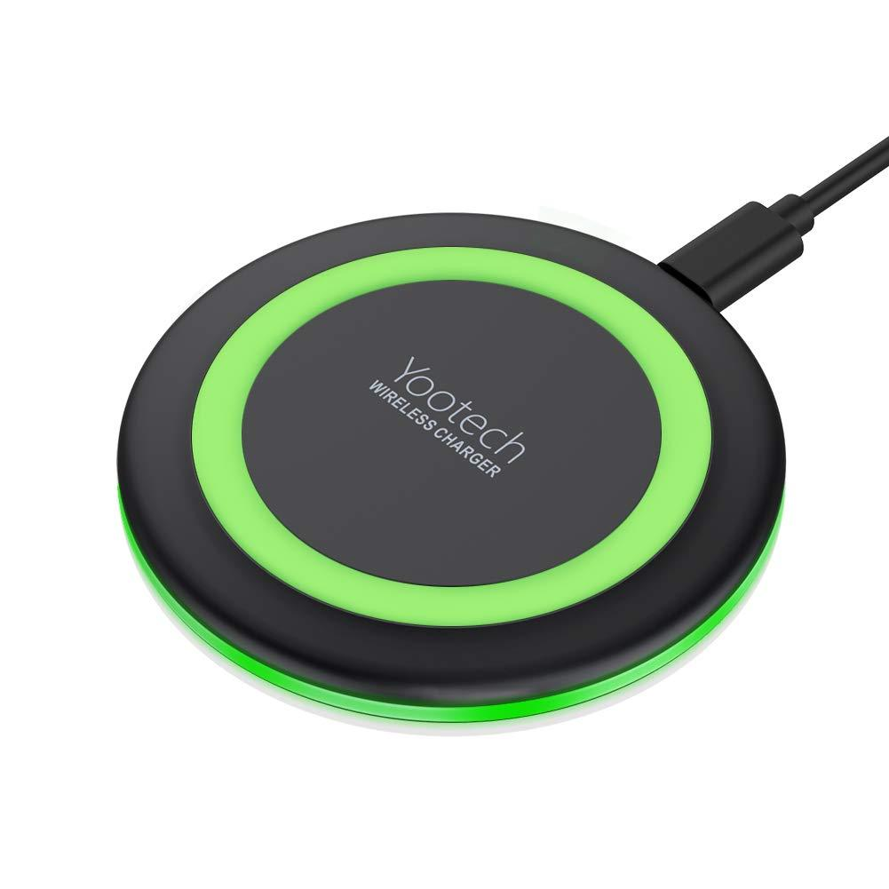 Yootech Wireless Charger Qi-Certified 10W Fast Wireless Charging Pad