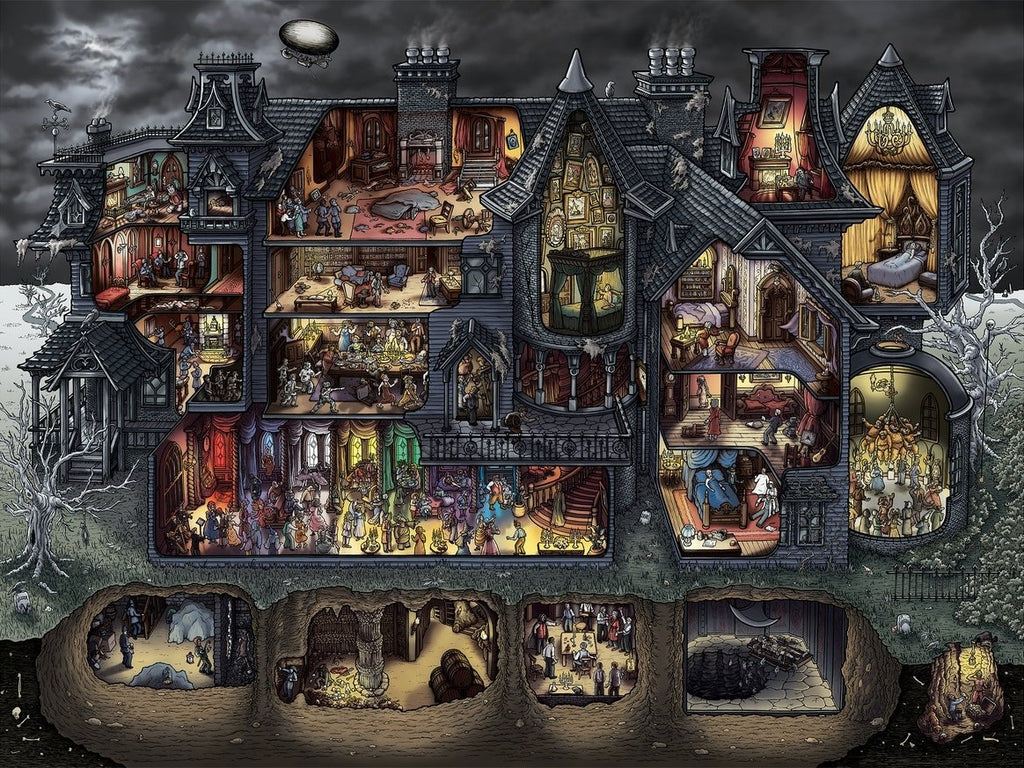 Macabre Mansion Puzzle 1000 PCS
