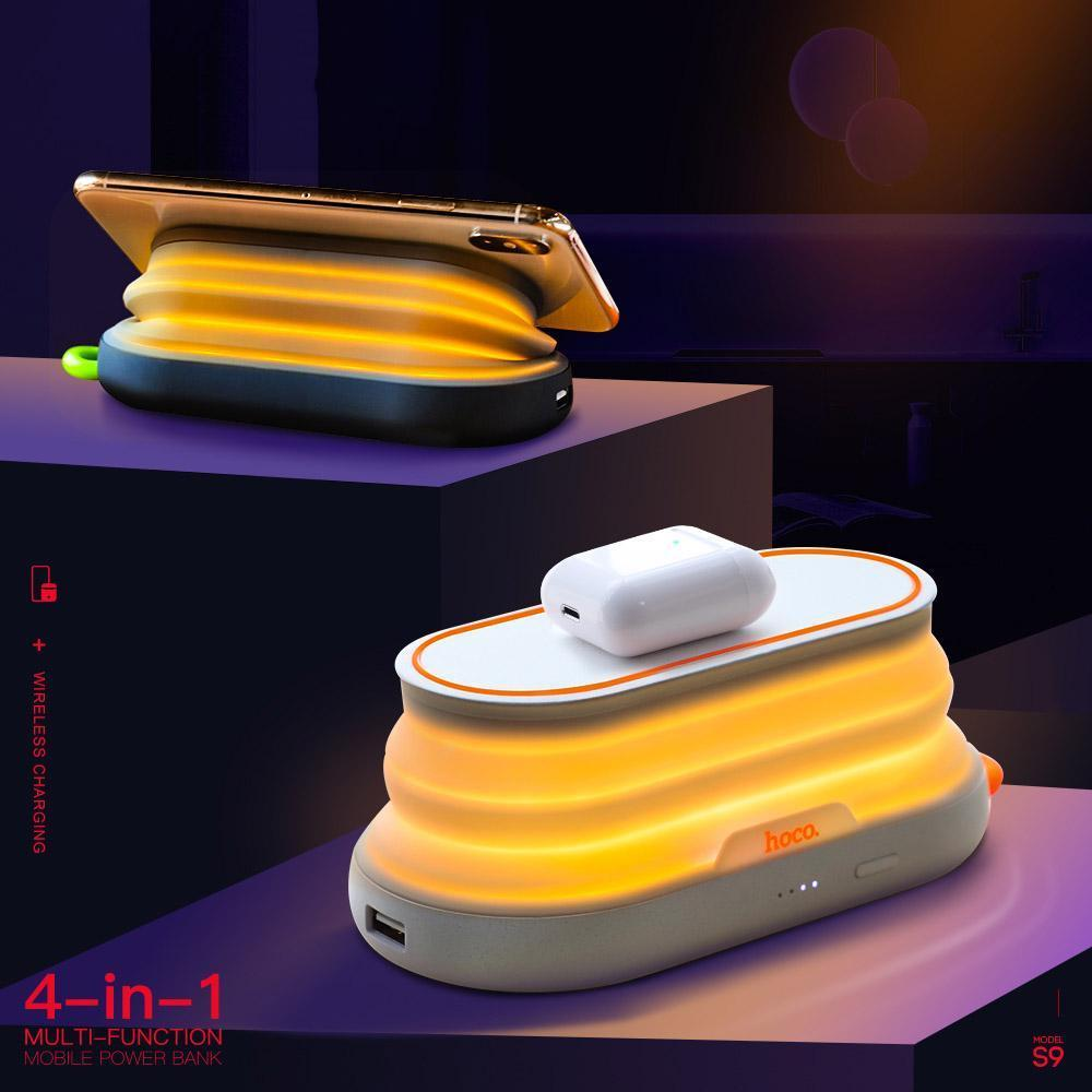 4 IN 1 Night Light Wireless Charger Power Bank