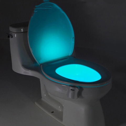 8-COLOR LED SENSORED TOILET POTLIGHT Free Shipping