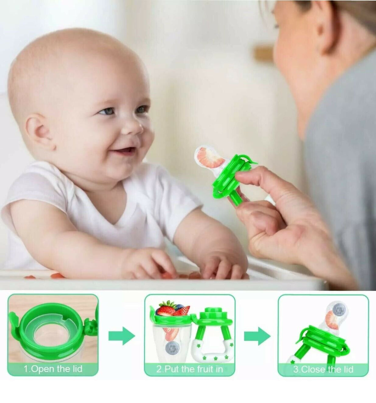 Baby Fruit Pacifer (pack of 2 or 4 unit.) Free Shipping