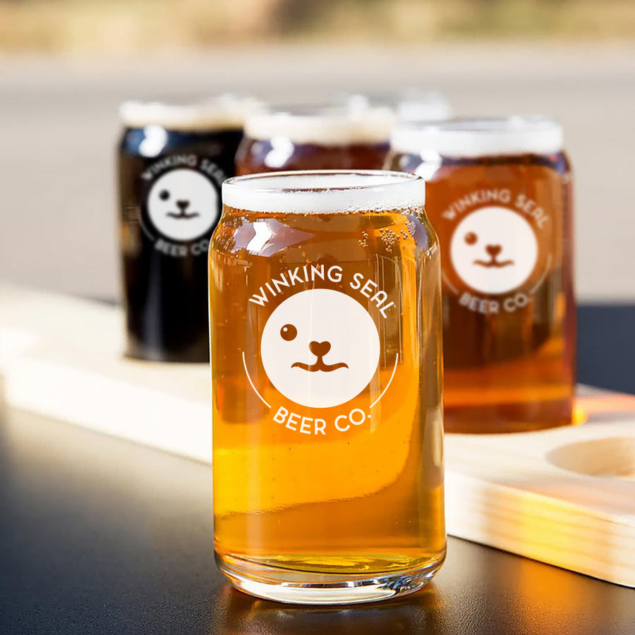 Winking Seal Beer Co.™ Branded Beer Can Glass - Taster
