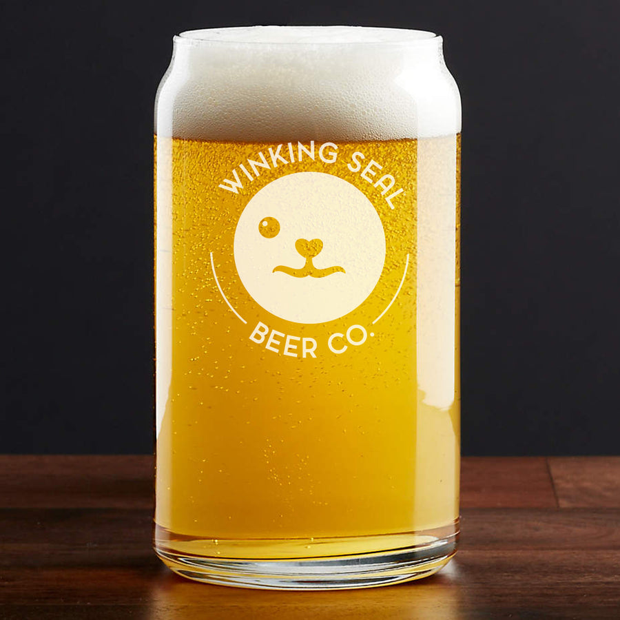 Winking Seal Beer Co. Branded Beer Can Glass - Pint