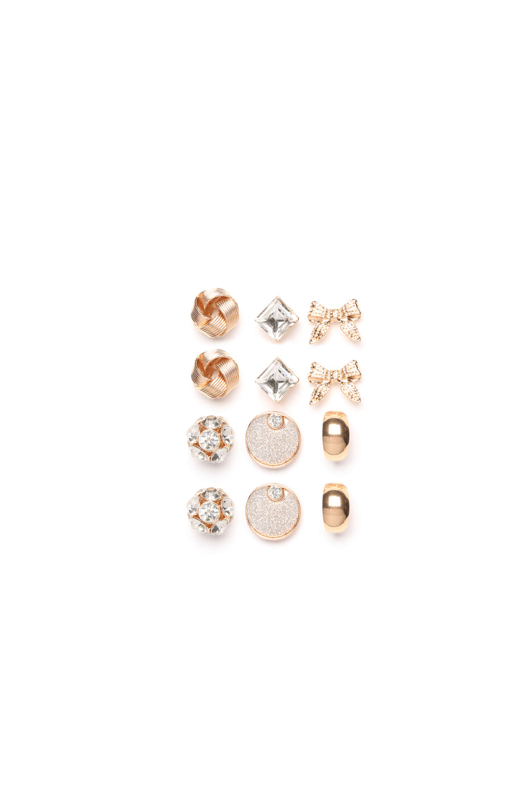 Have It All Earring Set - Gold